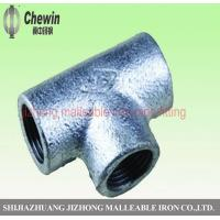 Wholesale galvanized malleable iron pipe fitting tees plain from china suppliers