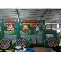 Wholesale Durable Funny Custom Made Inflatables Bus Obstacle Course Jump House 5 X 8 X 5m from china suppliers
