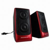 Wholesale Desktop Hi-fi USB 2.0 Portable Speakers with 4Ω Impedance from china suppliers