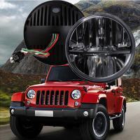 """Wholesale 60W 7"""" Fog Jeep LED Headlights With Hi / Lo H4 Or H13 For Wrangler JK from china suppliers"""