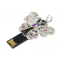 Wholesale Butterfly Shaped Jewelry 2GB USB 2.0 Flash Drive Support Win7 from china suppliers