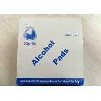 Quality Medical Use Sterile Alcohol Pads Saturated With 70% Lsopropyl Alcohol for sale