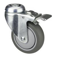 Hospital Bed Medical Caster Wheels With Brakes And Bolt Hole Fitting Swivel