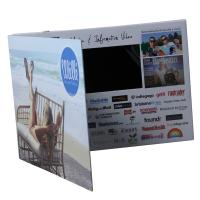 Wholesale Homemade LCD Video Brochure Card , 128MB-8GB LCD Christmas Card With Magnet Switch from china suppliers