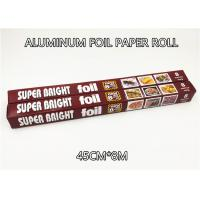 Wholesale Aluminum Foil Paper Roll Aluminium Foil Packaging 45cm 8m 10micron Thickness 6 in bag from china suppliers