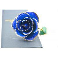 Wholesale Dark Blue 24k Gold Rose 30*6cm , Real 24K Gold Dipped Rose Valentine's Day Gifts from china suppliers