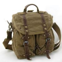 Wholesale Custom Khaki Cotton Canvas Messenger Bag / Travel Softbag With Lock from china suppliers