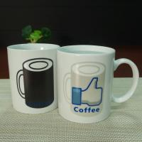 China White ceramic heat sensitive color changing mugs custom company logo wholesale