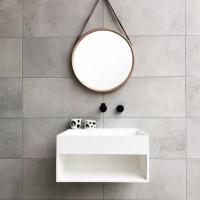 Buy cheap 500*500*250mm Artificial Stone Wall Hung Basin For Hotel from wholesalers