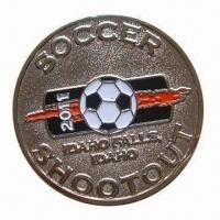 Wholesale Football Coin, Made of Brass Material, OEM Orders are Welcome from china suppliers