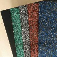 Wholesale New heavy duty rubber floor gym mat for commercial with blue red green yellow fleck from china suppliers