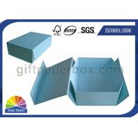 China Logo Printed Custom Cardboard Paper Collapsible Box for Clothing Garment Apparel wholesale
