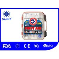 Wholesale Hard Red Case Portable First Aid Kit 326 Pieces Exceeds OSHA and ANSI with Wall Amounted from china suppliers
