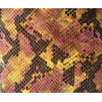 Quality Natural Fake Snakeskin Vinyl Fabric , Bags Snake Skin Pattern Fabric for sale