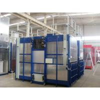 Wholesale Paited Blue Single Cage Hoist 2000KGS High Capacity , Cage Style from china suppliers