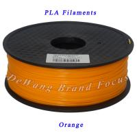 China Orange 1kg pla filament 3d printing materials 1.75mm 3.00mm wholesale