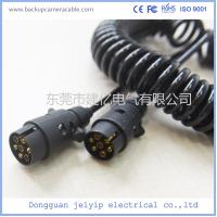 High Quality Black 7 Pin Spiral Cable Extension Trailer electric ...