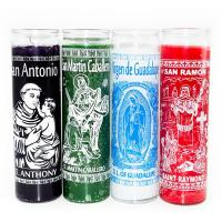 Quality Custom Hand Printed 7 Day Spiritual Candles for sale