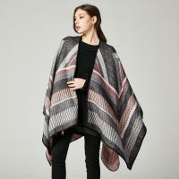 Quality New European and American imitation cashmere cloak big frame jacquard open fork for sale