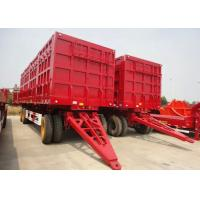 Wholesale 30ft Roof Opened Drop Side Trailer , Drawbar Steel Box Full Trailer With 3 Axles from china suppliers