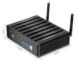 Wholesale USB VGA WIFI LAN Fanless Mini Desktop I3 5005U Win10 Linux DDR3L RAM from china suppliers