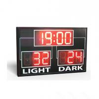 Buy cheap Simple Use Standard Electronic Led Basketball Scoreboard In Red Colour from wholesalers