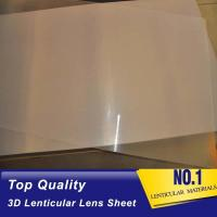 Wholesale Hot Sales Factory Price 100 lpi 3D Plastic Lenticular Lens Sheet with Adhesive for 3D Lenticular Advertising Poster from china suppliers