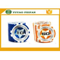 Wholesale Round Customised Poker Chips Plastic Game Poker Chips With Laser Star Stickers from china suppliers