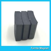 Wholesale Arc Shaped Permanent Ferrite Magnet For Ceiling Fan Motor SGS Certification from china suppliers