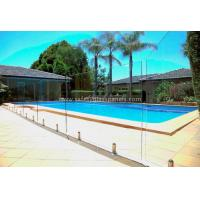 China Fully Frameless Glass Pool Fencing , High Strengh Toughened Glass Fence Panels wholesale