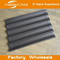 Wholesale Factory wholesale bread baking aluminum sheet-baking cake aluminum tray-on-stick french baguettes baking tray from china suppliers