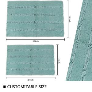 Wholesale Super Soft Bath Mat Cyan Solid Color Bath Rugs For Home Decoration from china suppliers