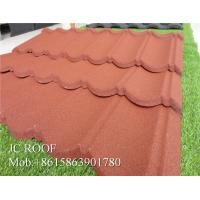Wholesale Lightful House Shingle Colour Coated Steel Roofing Sheets 1300*420mm Overall Size from china suppliers