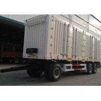 Wholesale 30ft 3 Axles Steel Box Drawbar Full Trailer For Bulk Cargos And Mine Material from china suppliers