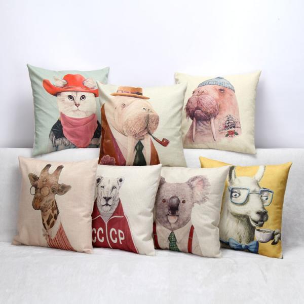 Cotton Linen Zippered Cushion Cover 18 Throw Pillow Case Cushion Cover Home Sofa Decor of item ...