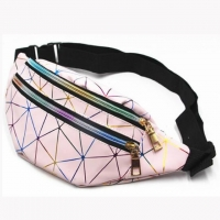 Wholesale Outdoor Sports Chest Bag Geometric Laser Waist Packs for man and women from china suppliers