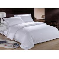 Wholesale White Dorm Bedding Sets 150 ~ 350GSM 100% Cotton 200TC Customized Size from china suppliers