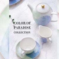 Wholesale Home Mixed Colors 250cc Hand Paintable Ceramic Tea Cups Set from china suppliers