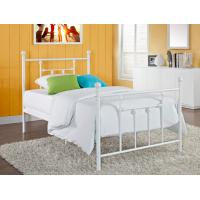 Elegant full size metal beds white wrought iron bed frame on sale