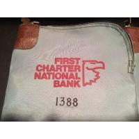 Wholesale 16oz Canvas White Zippered Bank Bags Embroider logo Fireproof from china suppliers