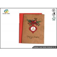 Wholesale Handmade Brown Kraft Paper Chrismas Greeting Cards Offset Printing from china suppliers