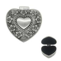 Wholesale Luxyry Zinc Alloy Heart trinket box by nickel plating Co Velvet Lower for 21st birthday gifts from china suppliers