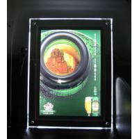 580*840mm wallmount acrylic adveting crystal light box with colorful led lighting