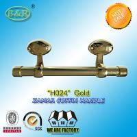 Wholesale Egg Design Italy quality Metal Coffin bar zamak coffin hardware H024 size 25*10cm Gold Color from china suppliers