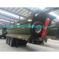 Wholesale 45 Ton Pay Load Semi Dump Trailers / Tri Axle Dump Truck Trailer 10 Pcs Leaf Spring from china suppliers