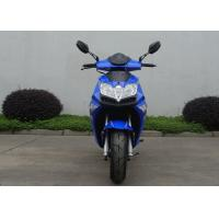 China 2 Stroke 1 Cylinder Blue Adult Motor Scooter 150 Kg Max Load Capacity 2.0 Oil Consumption on sale