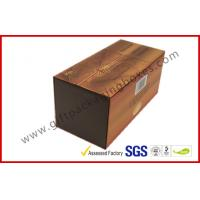 Wholesale Brown Food Grade Cigar Gift Paper Box  with Tissue Paper Printed from china suppliers