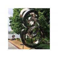 Wholesale Spiral Contemporary Garden Decoration Stainless Steel Mirror Sculpture from china suppliers