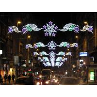 Wholesale high quality Christmas Led street motif light with star across street decoration from china suppliers