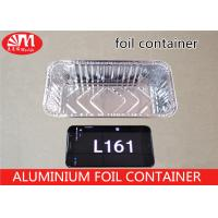 Wholesale Rectangle Aluminum Foil Food Containers , L161 Aluminium Foil For Food Packaging from china suppliers